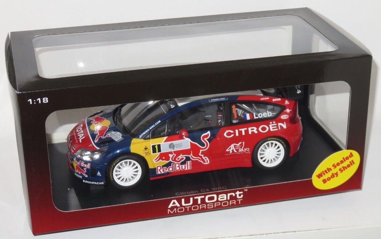 1 18 Citroen C4 WRC rosso Bull  1st Rallye de France Tour de Corse 2008  S.Loeb