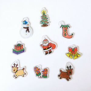 image about Printable Shrink Plastic called Info pertaining to 6x Warmth Shrink Plastic Printable Shrink Paper Sheets Do-it-yourself Xmas Ornaments