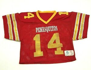 VINTAGE Sports Bella Penasquitos Football Jersey Size L - XL Athletic Cut Red