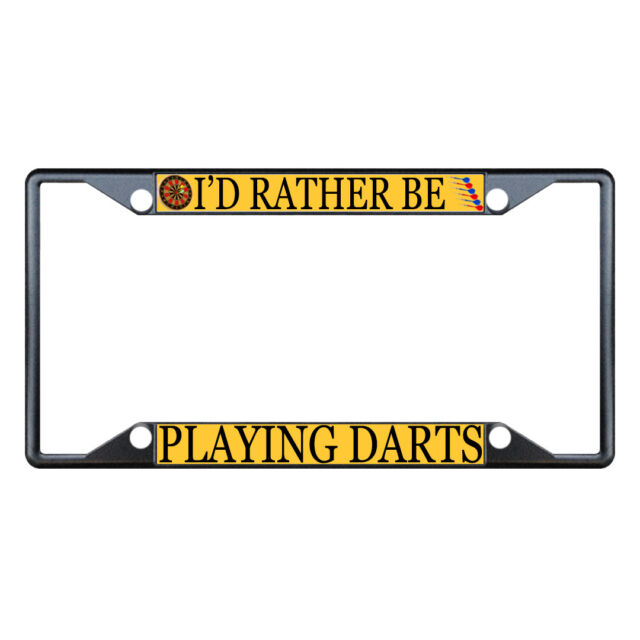 Black License Plate Frame I/'d Rather Be Playing Sonic The HegdeHog Auto