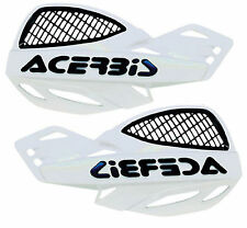 Acerbis Uniko White Vented Plastic Hand Guards Fits Ktm Dirt Bikes Motorcycles
