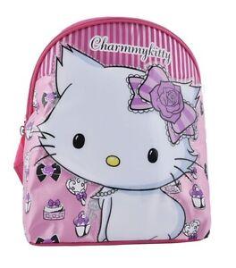 Hello-Kitty-CharmmyKitty-Pequeno-Mochila-con-relieve-Brillante-Motivo