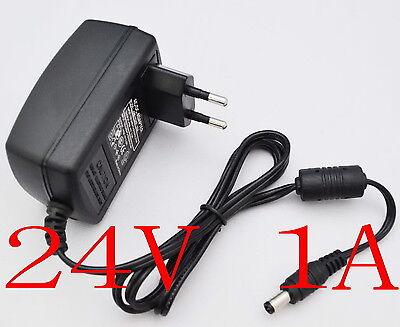 AC Converter Adapter DC 24V 1A Power Supply Charger EU plug DC 5.5mm 1000mA 24W