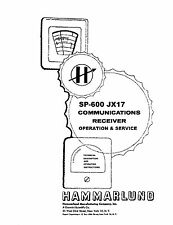 Hammarlund SP-600 JX17 Operation & Service Manual Reprint + Bulletin