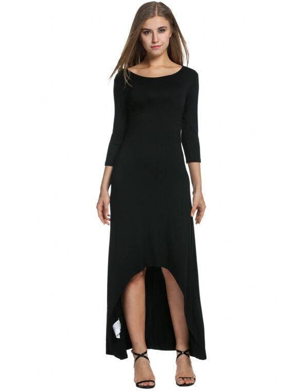 Kurzes kleid frau lange ärmel schwarz élégant teilt hals sexy etuikleid 3294