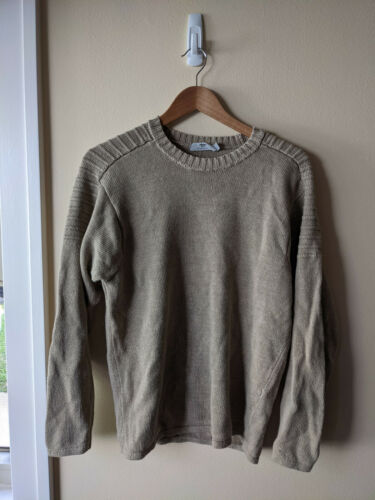 Inis Meain Tan Linen Sweater - Small