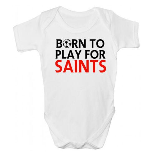 Funny Saints Babies Clothing Funny Southampton FC Football Baby Grow