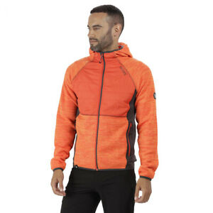 Regatta-Mens-Rocknell-Hybrid-Hiking-Golf-Fleece-Jacket-Orange-RRP-60