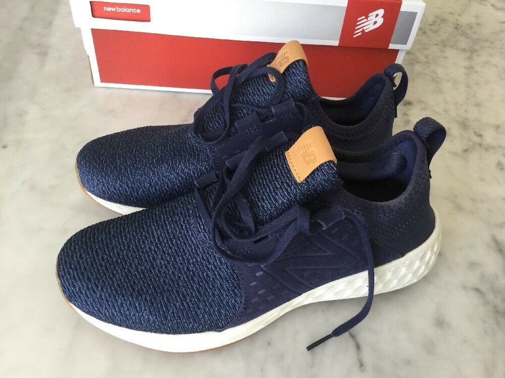 NIB Womens New Balance Fresh Foam Cruz Navy, Sz 9