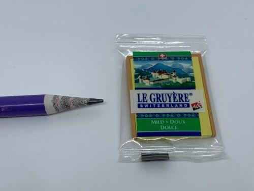 D008 Dollhouse Miniature Thick Gruyère cheese switzerland migros coles walmart