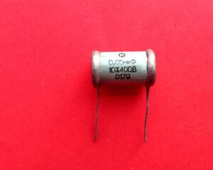 0-05-uF-400V-10-Silver-Mica-capacitor-paper-in-oil-vintage-soviet-ussr-RARE-NOS
