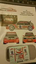 Promo Decals 1/43  ref 91 Citroën Saxo kit car Gaban Ypres 1997