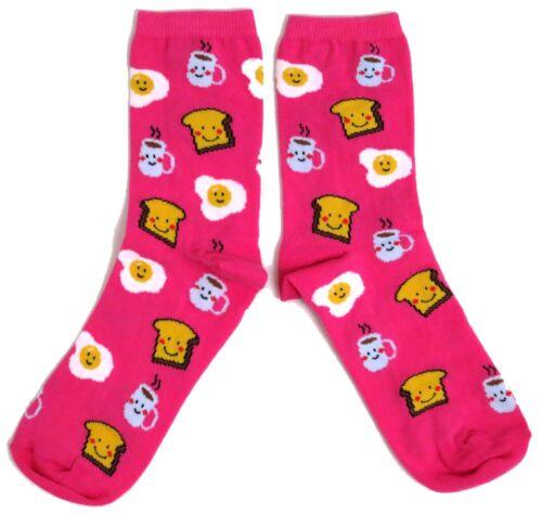 Mesdames être gaie au petit déjeuner souriant tea /& toast chaussettes taille uk 4-8 usa 6-10