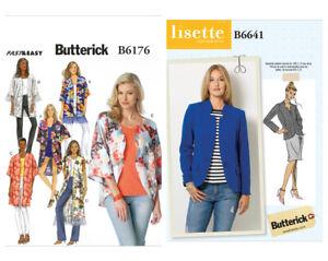 Details zu Butterick Schnittmuster Damen Jacke B6176 B6641