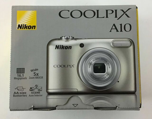 NEW Nikon COOLPIX A10 16.1 MP Digital Camera w/ 5x Optical Zoom & HD 720p Video