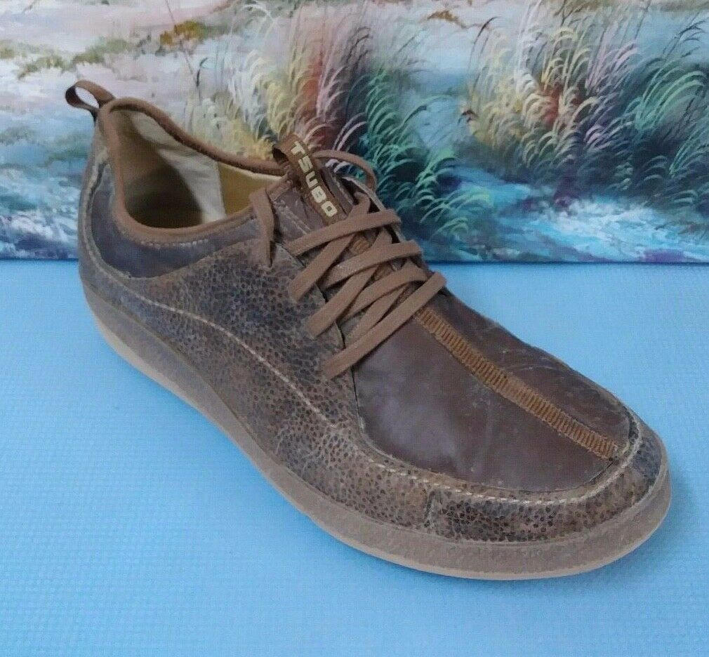 Tsubo Brown Leather Lace Up Casual Oxford shoes Mens 11.5