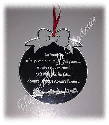 Frasi Su Natale E Famiglia.Pallina Di Natale Con Incisa Frase Sulla Famiglia Taglio Laser Ebay