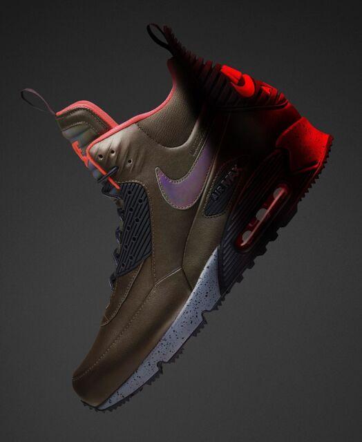 NIKE Air Max 90 Sneakerboot Mens Shoes Sz 9 684714 300 Dark LodenBlack