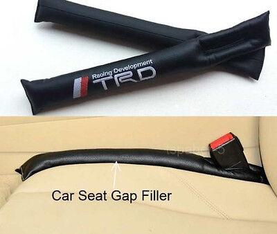 NEW 2X JDM Black leather MAZDASPEED Car Seat gap Filler Pad Blocker