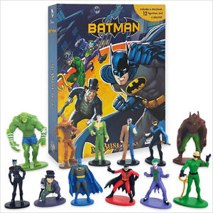 BATMAN BUSY BOOK - STORY 12 FIGURES AND A PLAYMAT - CAKE TOPPERS FREE P+P