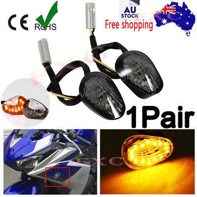 LED Clear Front Flush Mount Winker Indicators Pair Yamaha YZF-R6 03-13