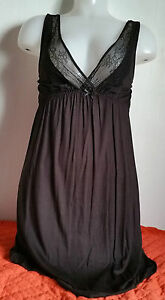 Other Lingerie & Nightwear Clothes, Shoes & Accessories Pretty Soft Elegant Black Lacy Indigo Sky Nighties /chemise 8-20 Valentines