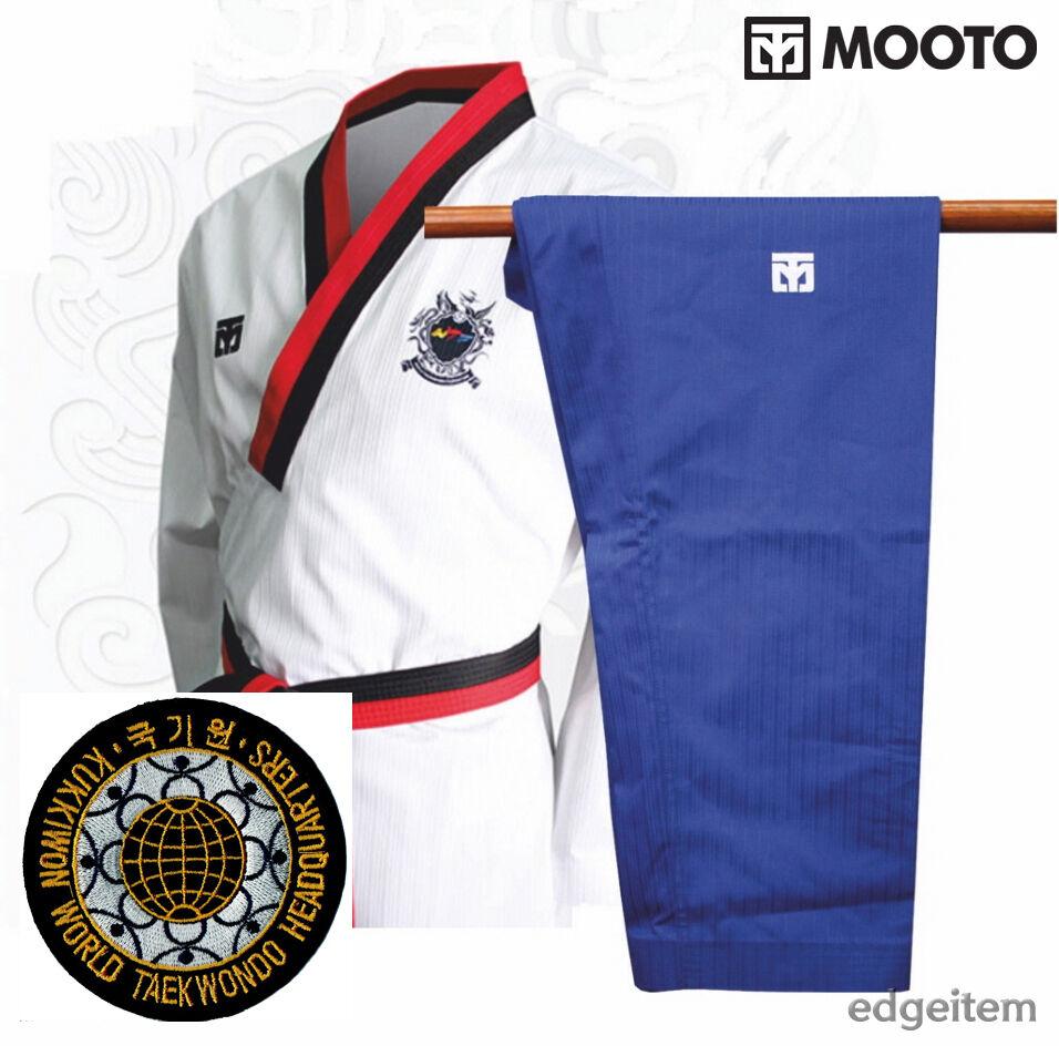 MOOTO Poomsae WTF Poom Uniform (Male) with KUKKIWON Patch Taekwondo Dobok TKD