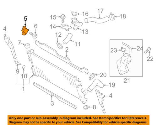 SUBARU OEM 13-16 BRZ 2.0L-H4-Radiator Upper Bracket Left 45124CA010