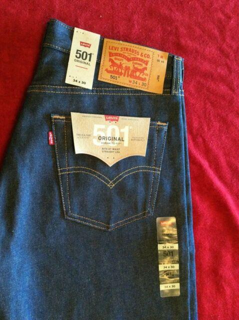 926a2f79 Levi's 501-0000 Original Shrink to Fit Men's Jeans Size 33x31 Old ...