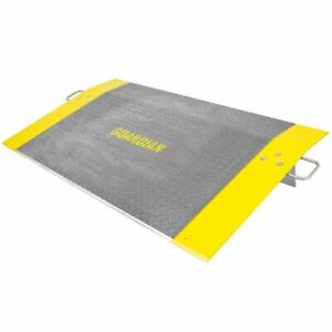 36L x 60W Yellow Steel Dock Plate; Load Capacity 5150 lb.