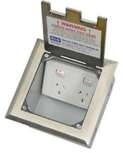 Electric Cable Duct Systems Flush Floor Box 145x145x100mm