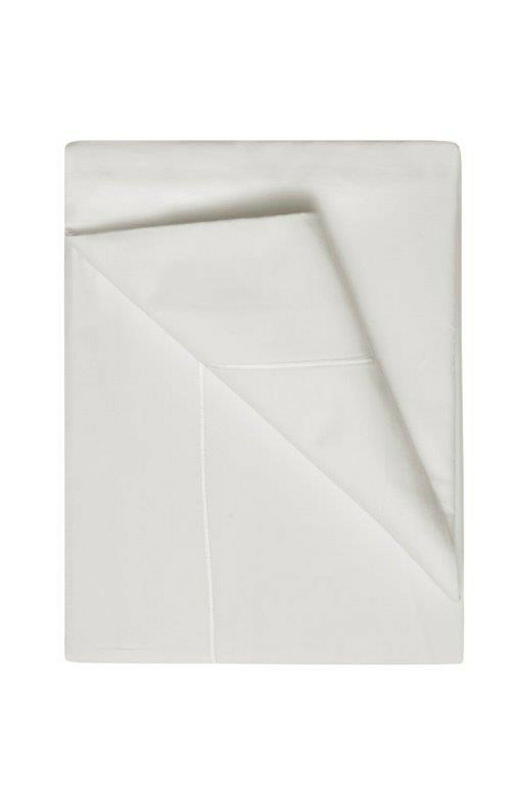 400 Thread Count Egyptian Cotton Flat Sheets Single Ply in Ivory All Größes