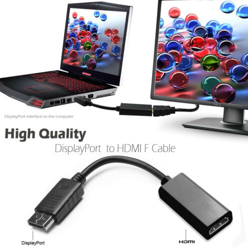 DisplayPort DP to HDMI Audio Video Cable Cord Adapter Gold Plated For PC HDTV