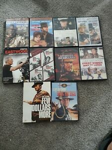 CLINT-EASTWOOD-Lot-of-10-DVDs-17-MOVIES-Westerns-Drama-Action-Comedy
