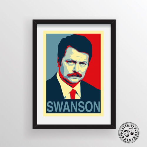 RON SWANSON Parks /& Recreatio Hope Poster Shepard Fairey style by Posteritty
