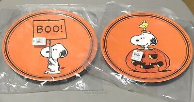 SET 2 Pottery Barn Peanuts Snoopy Cup Holiday Woodstock HALLOWEEN Vampire Mummy