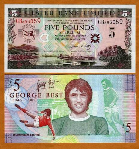 5 pounds 2006 P-339 UNC George Best Northern Ireland