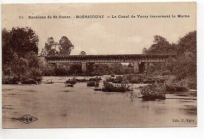 Creatief Moeslains Hoericourt Haute Marne Cpa 52 Le Pont Canal De Wassy Sur La Marne Hoge Veiligheid