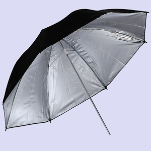 "CY 33"" Black Silver Soft Umbrella Studio Photo Reflector Flash Lighting Light"