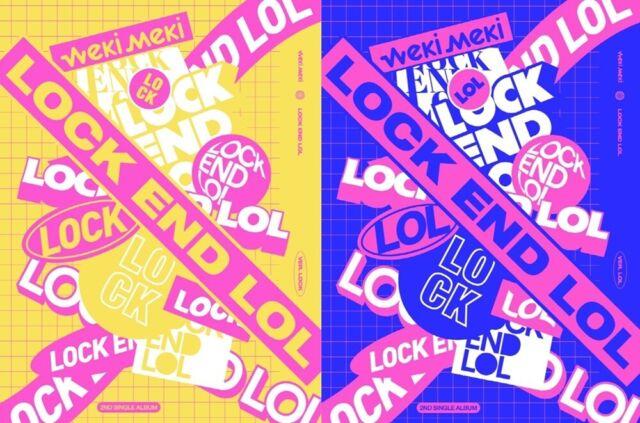 K-POP WekiMeki 2nd Single Album LOCK END LOL CD+Photoook+P.Card+Sticker+F.Poster