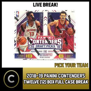 2018-19-PANINI-CONTENDERS-12-BOX-FULL-CASE-BREAK-B047-PICK-YOUR-TEAM