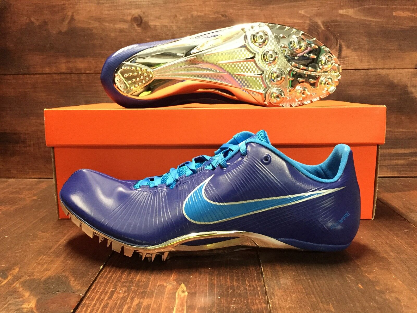 premium selection 8917b 360d7 ... Nike Zoom JA Fly 1 2 Running Track Track Track Spikes Blue White Red  Black ...