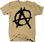 Distressed Anarchy A Circle Color T-Shirt