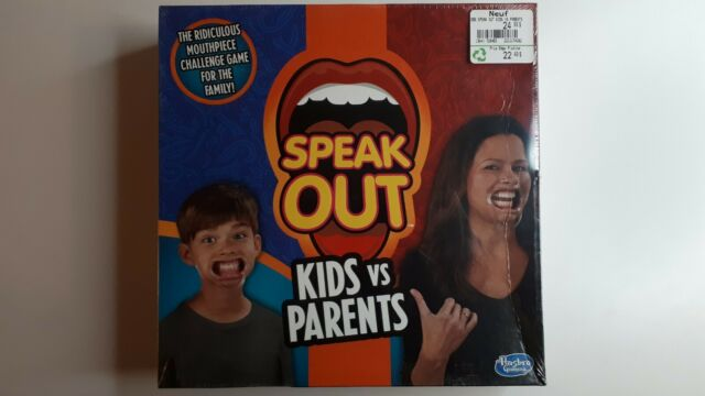 Hasbro Speak Out Kids Vs Parents Game Factory Sealed Game Night Fun Brand New