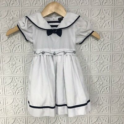 BabyPrem Baby Clothes Girls/' Navy Summer Dress Set Outfit 0-9m