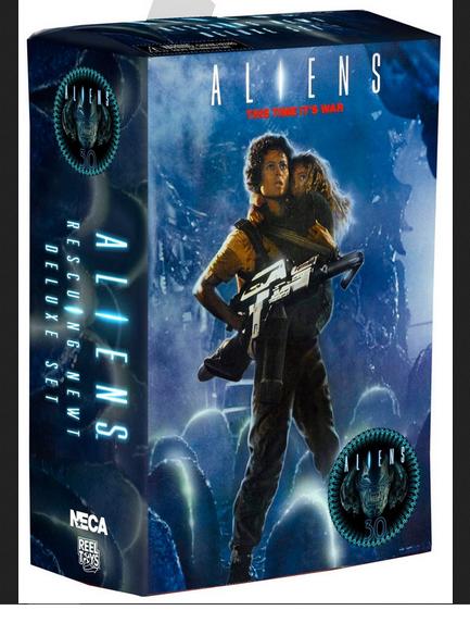 Neca aliens film 1986 30. anniversery ripley & newt twin - action - figur setzen