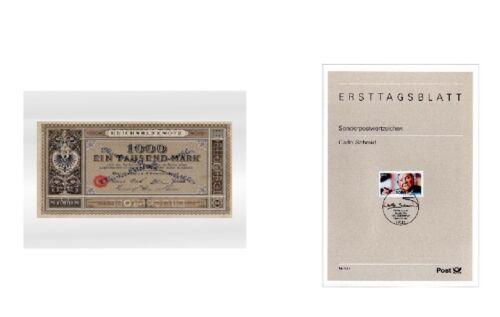 500 LINDNER 888LSP Schutzhüllen Banknotenhüllen 213x152mm A5 ETB Banknoten