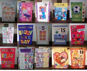 Image Is Loading Age 15 Birthday Cards For Boys Amp Girls