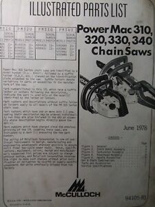 Mcculloch power mac 310 user manual pdf