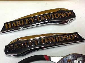 OEM Genuine Ultra Emblems Harley-Davidson Gas Fuel Tank Emblem Set